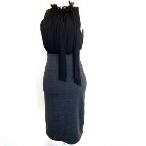 Ultra-Flattering Black & Gray BCBG Cocktail Dress